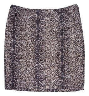 Torn by Ronny Kobo Animal Print Pleated Mini Skirt Leopard