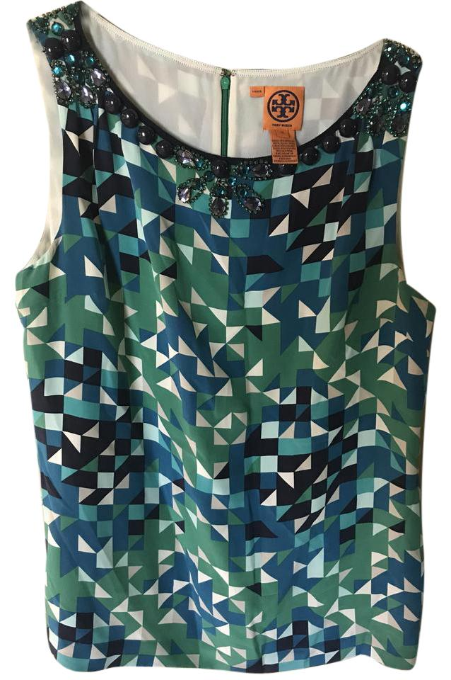 68ba2de63a1fc Tory burch beaded tunic silk bling top blue green black white pink jpg  638x960 Tory burch