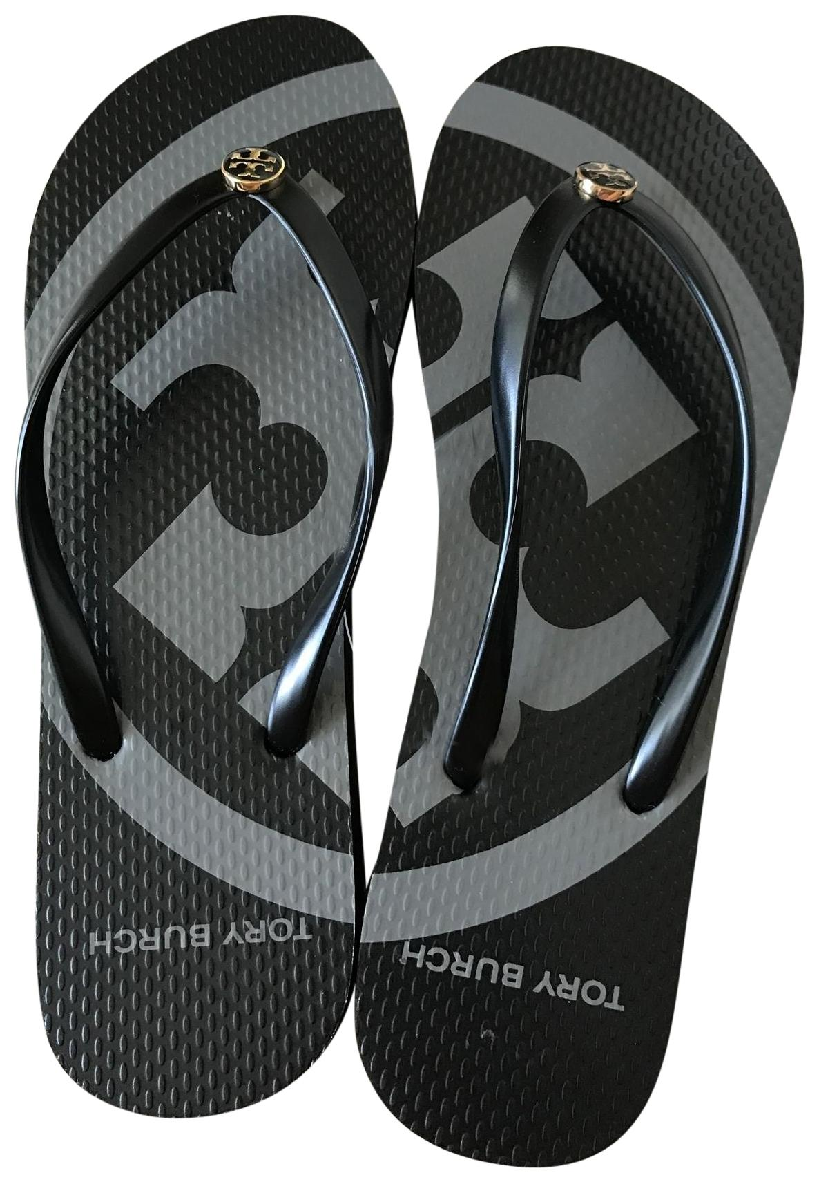 e4195582c Tory Burch Black 11m Emory Flip Flip Flip Flops Sandals Size US 11 Regular  (M