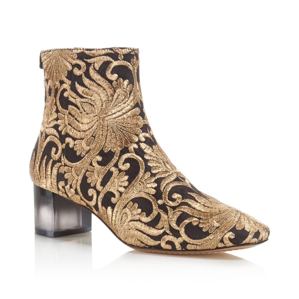 Tory Burch Brocade Canvas Booties cheap price low shipping fee cheap sale countdown package sale purchase dvIQ5jM