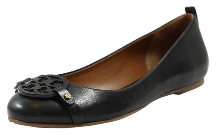 Tory Burch Black Mini Miller Leather 8.5 Ballet Flats Size US 8.5 Leather 624283