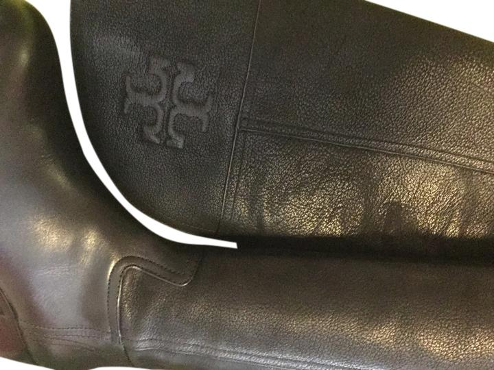 2f32ca3e692 Man s Woman s:Tory Burch Black Simone Grain Leather Over Over Over The Knee  Reva Riding Boots Booties Size US 8.5 Regular (M