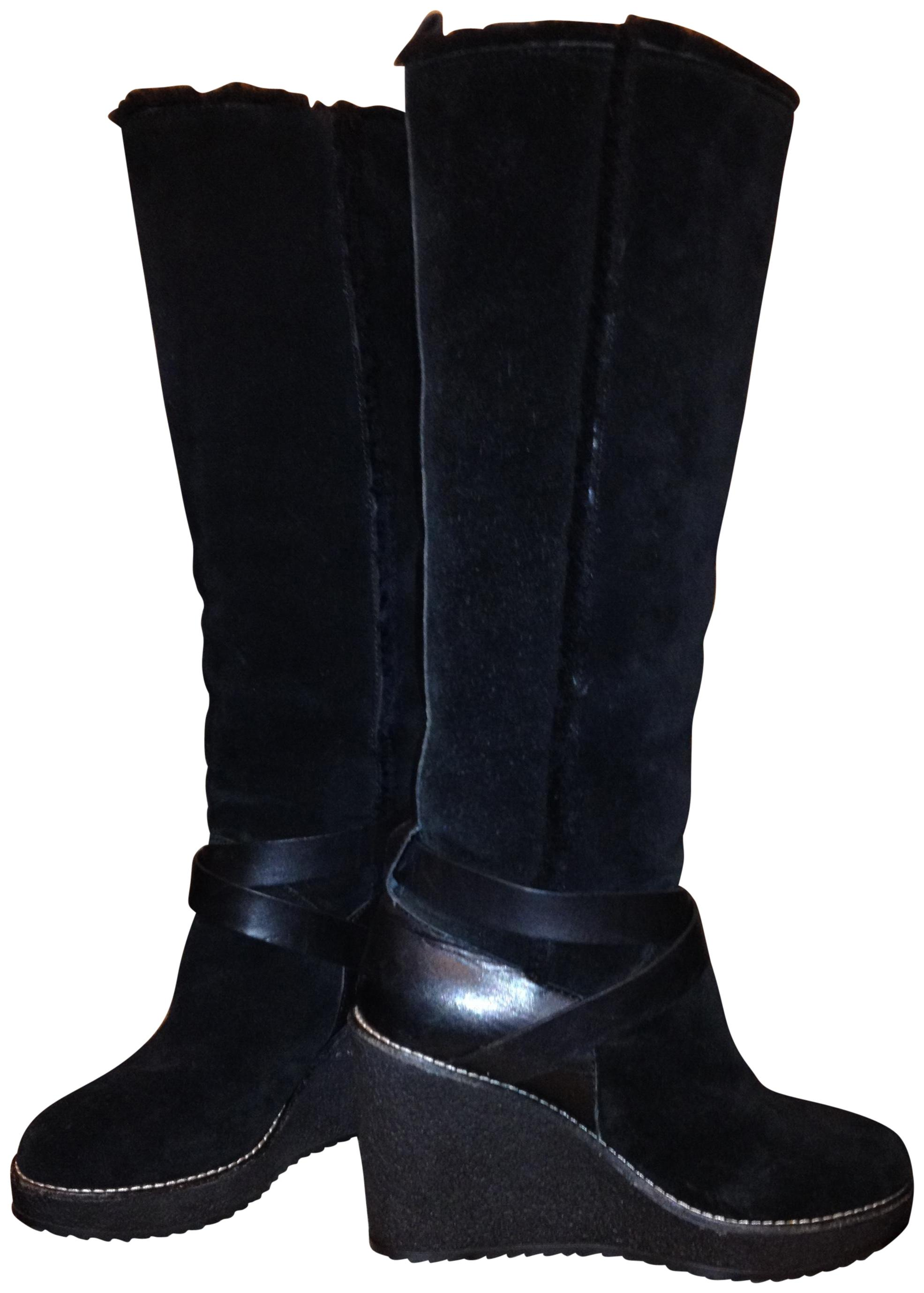 discounts buy cheap factory outlet Tory Burch Knee-High Wedge Boots outlet original MrxedKtP6