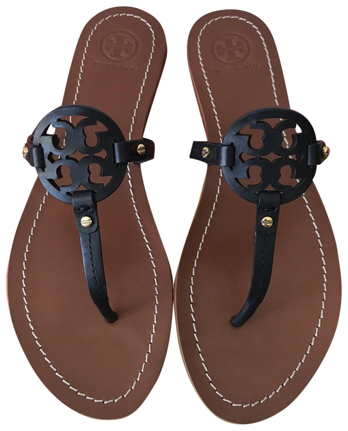 33613e4c3068 Tory Burch Blue 7.5m Mini Miller Flat Sandals Size US US US 7.5 Regular (M