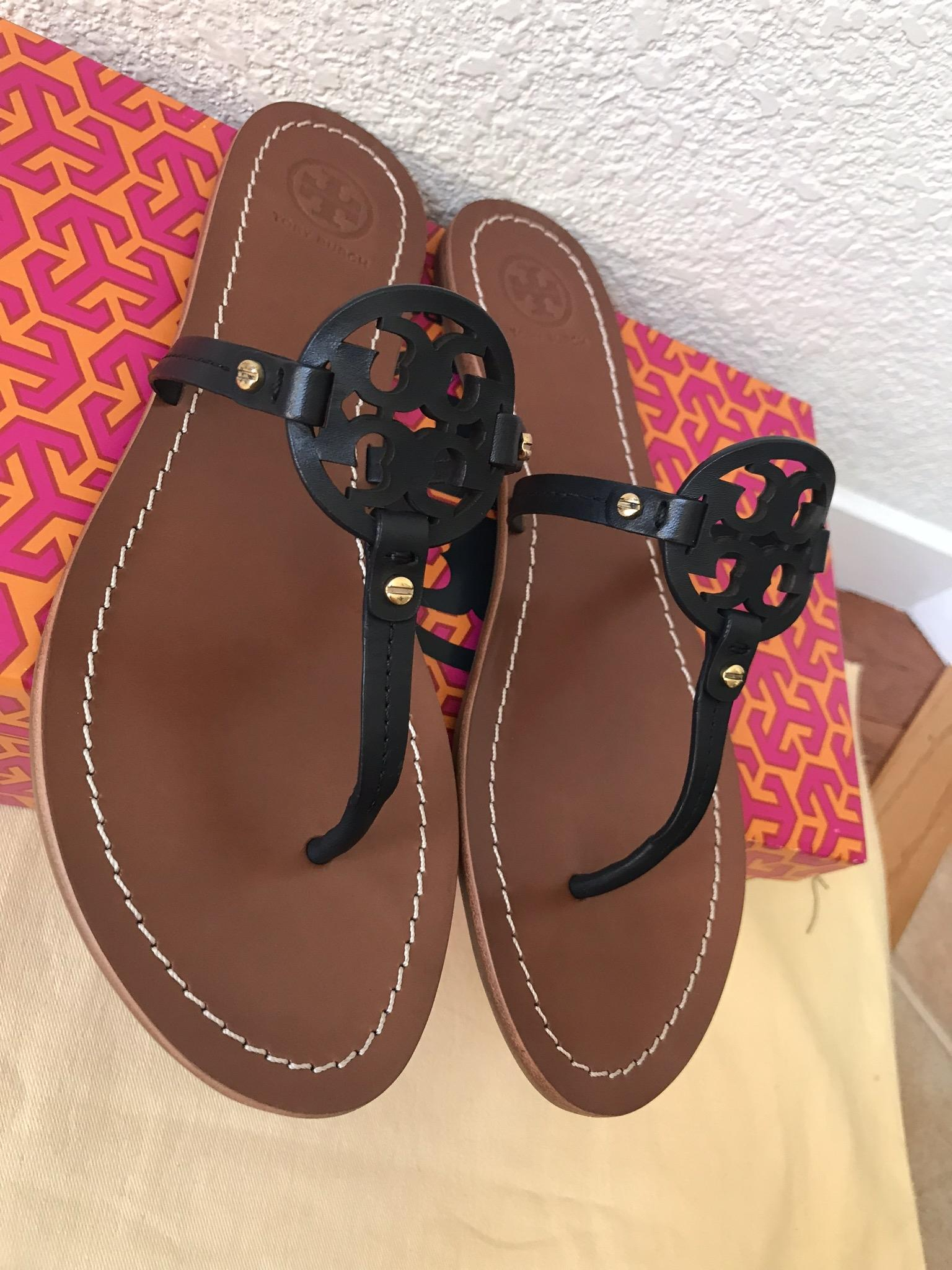 615ea2f9ffc0 ... Tory Burch Blue 7.5m Mini Miller Flat Sandals Size US US US 7.5 Regular  ...