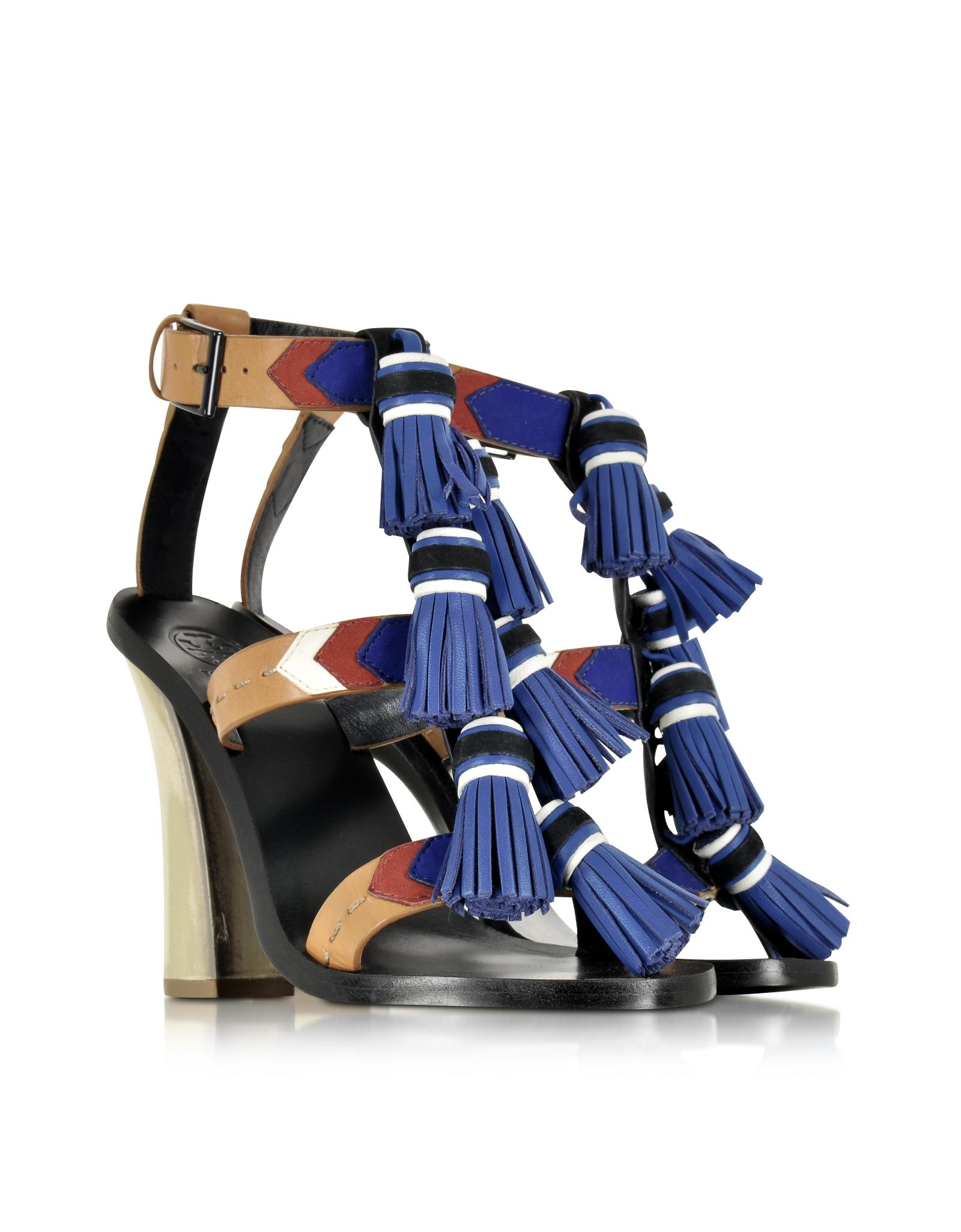 clearance pre order Tory Burch Leather Tassel Sandals tumblr online XKRn1RT