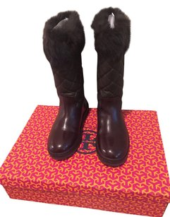Tory Burch Brown and military green Boots