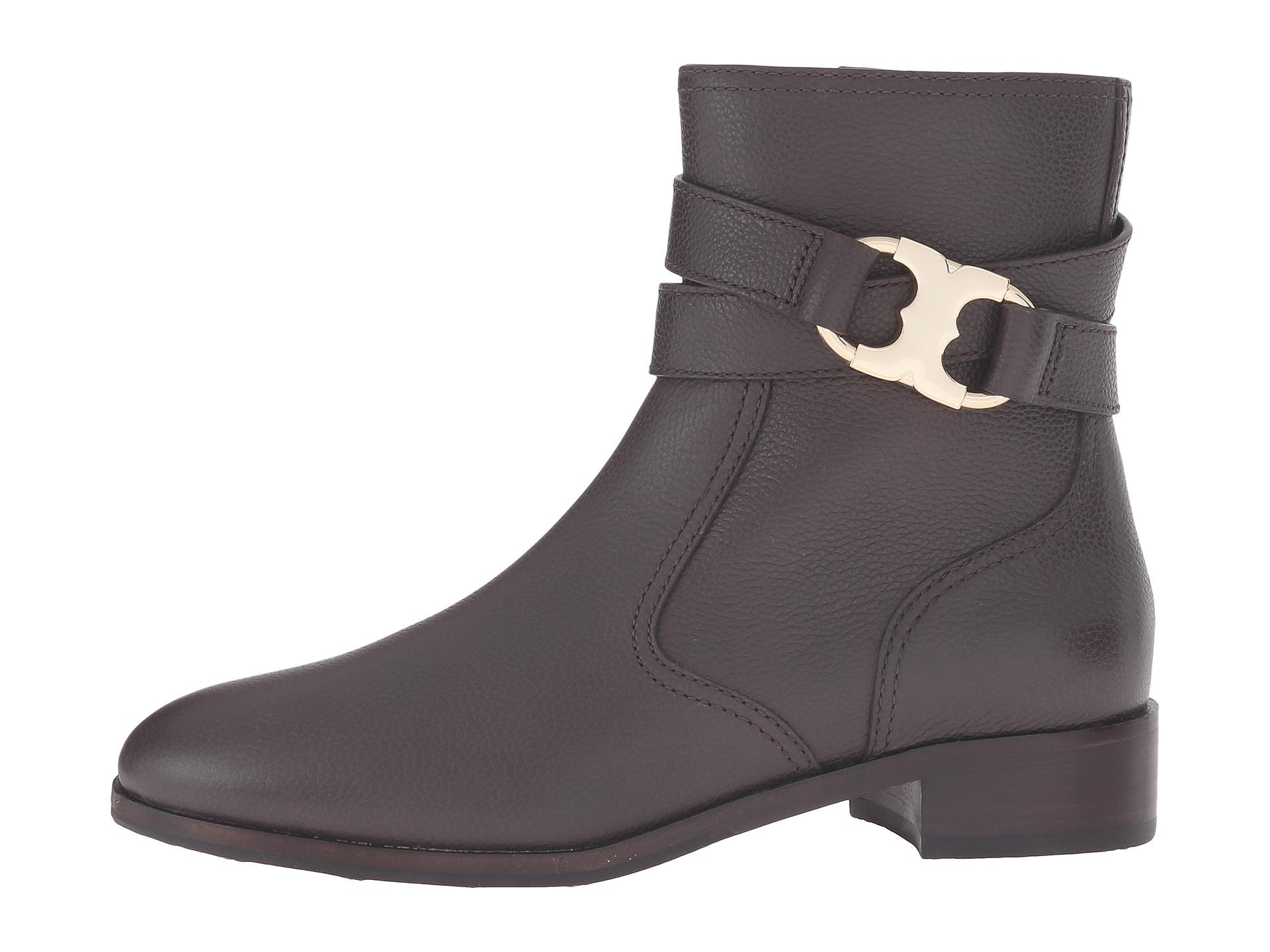 Tory Burch Brown Gemini Link Coconut Tumbled Leather Boots/Booties Size US 8.5 Regular (M, B)