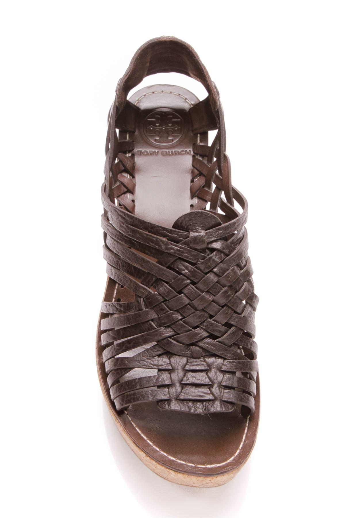 ea49138e133c ... Tory Burch Brown Brown Brown Lottie Cork Sandals - Wedges Size US 9  Regular (M ...