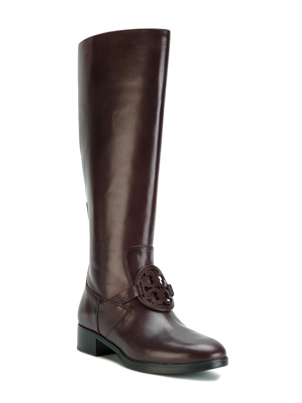 afed4c850f2c Tory Burch Burn Burn Burn Chocolate Miller Pull-on Leather Boots Booties Size  US 8 Regular (M