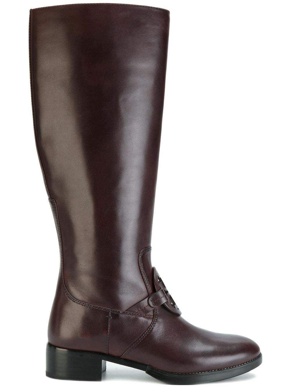 cd4cf4309d4d ... Tory Burch Burn Burn Burn Chocolate Miller Pull-on Leather  Boots Booties Size US ...