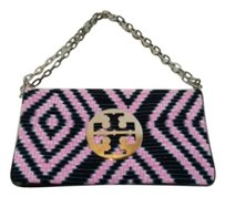 Tory Burch Navy And pink Clutch
