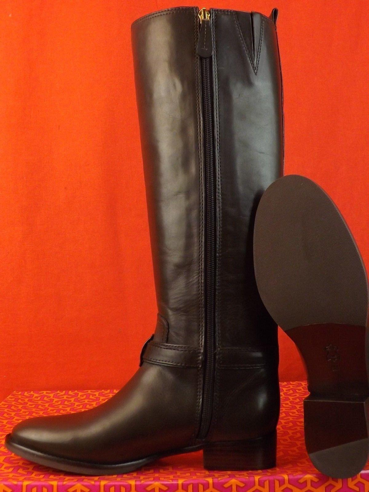 bac9bc5dd55d ... denmark tory burch coconut bristol leather gold reva tall harness riding  boots booties size us 9.5