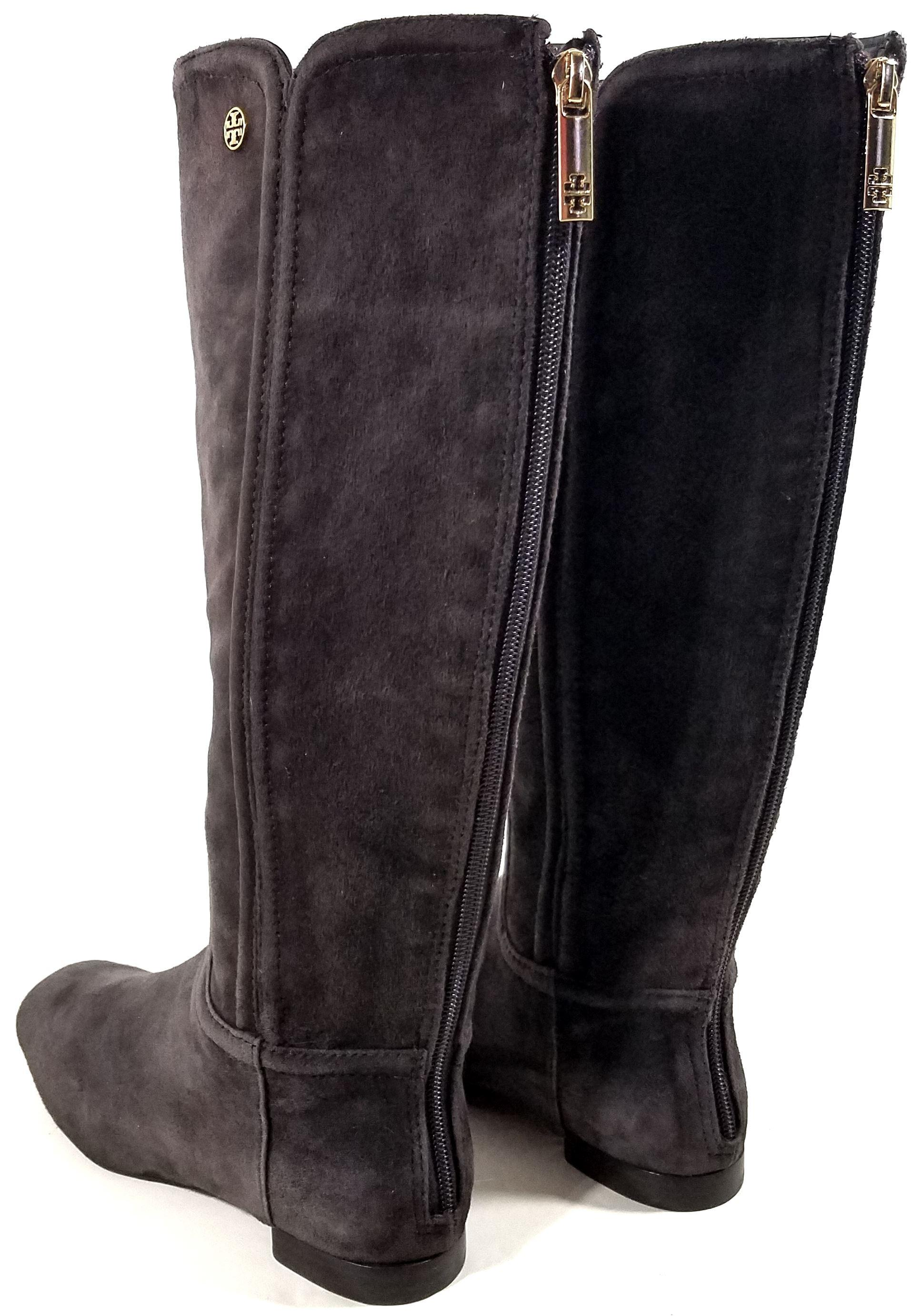 2f8a6c22c ... ebay tory burch coconut brown irene riding boots booties size us 6.5  207d8 d6228