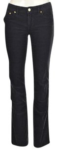Tory Burch Womens Navy Corduroy Textured Trousers Pants