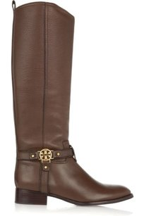 Tory Burch Elle Leather Brown Boots