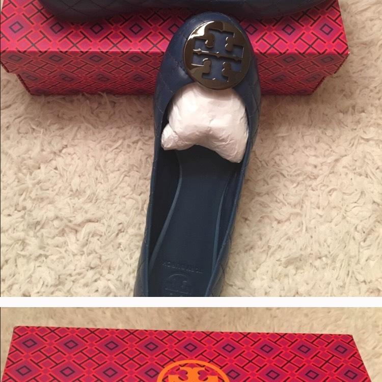 Tory Burch Quinn Quilted Leather Ballet Flats Size Us 9