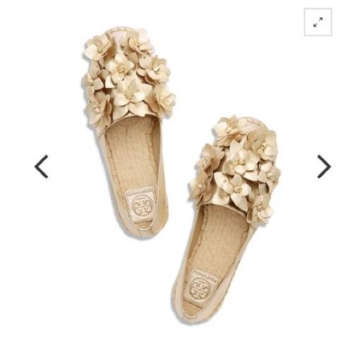 86fde6ccd399 ... B Tory Burch Gold Blossom Espadrille Flats Size Size Size US 6 Regular ( M