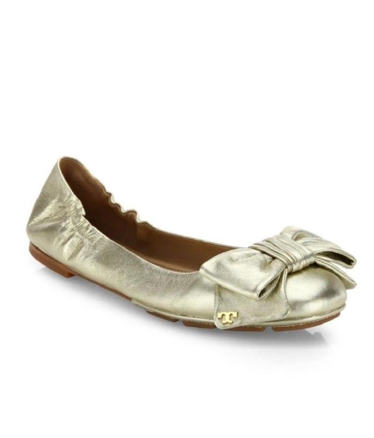 ae51be6d7c1 authentic tory burch gold ballet flats 0b807 445a9