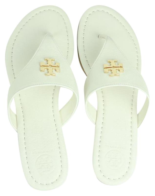 426bc0dad52e ... discount tory burch ivory white gold sandals 5b48d 0c9ed