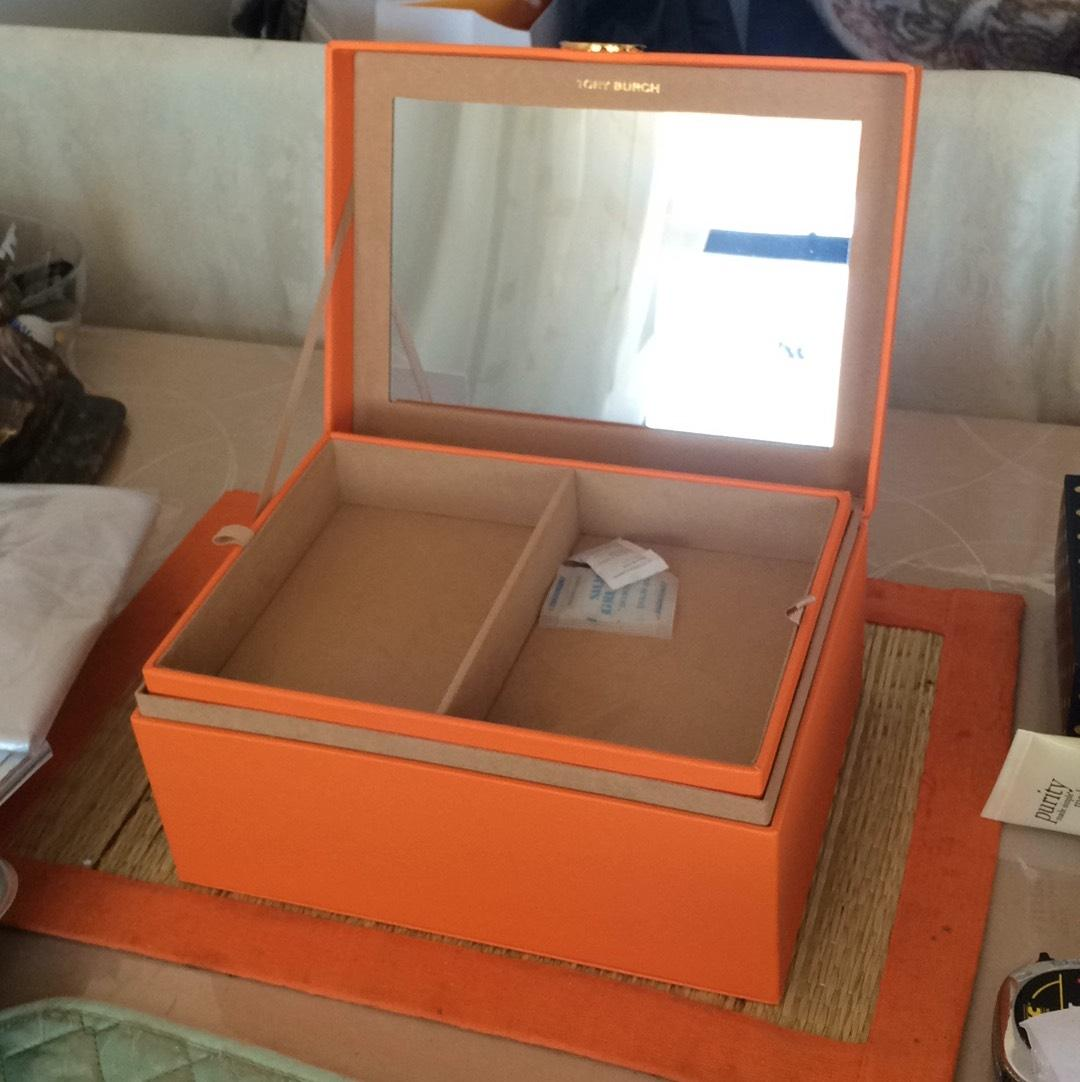 Tory Burch Jewelry Box with Mirror and Removable Tray Tradesy