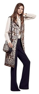 Tory Burch Long Jacquard Patterned Vest