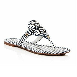 Tory Burch Navy/white stripe Sandals