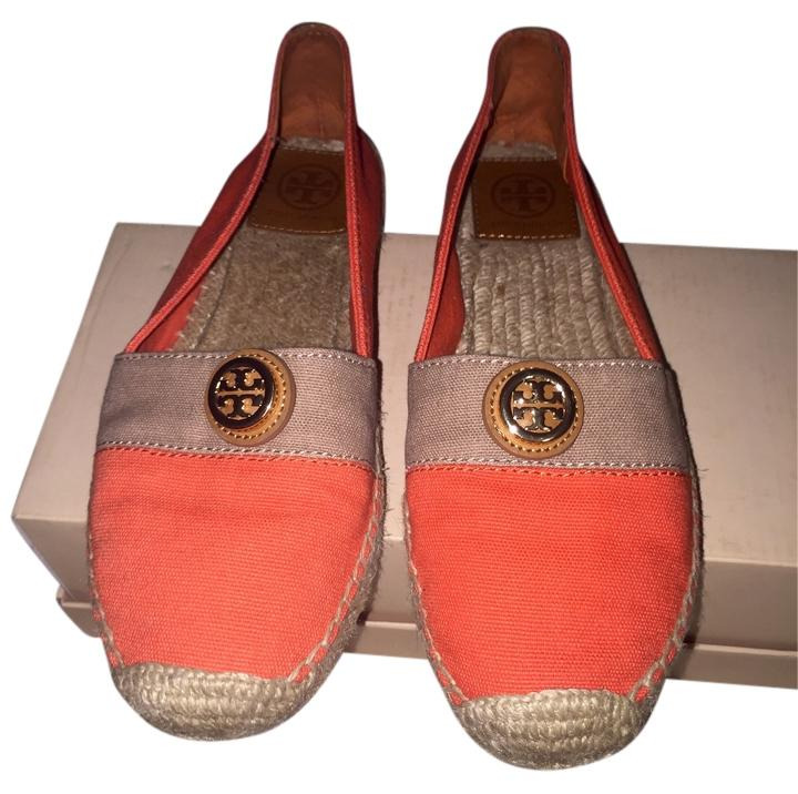 f950eb8bf8112 Tory Burch Orange Espadrille Flats Flats Flats Size US 8 Regular (M ...