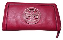 Tory Burch Rare Tory Burch Amanda Zip Continental Wallet in Auburn