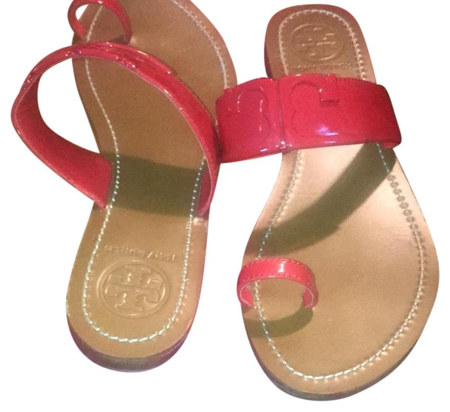 25bfef4eade6c Tory Tory Tory Burch Red 21168710 Sandals Size US 9 Regular (M