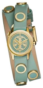 Tory Burch REVA MINI DOUBLE WRAP WINDSURF LEATHER & GOLD WATCH