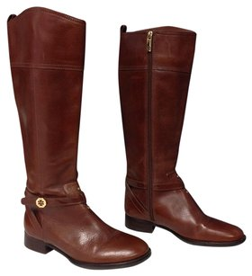 Tory Burch Leather Knee Brown Boots
