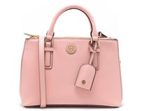 Tory Burch Robinson Double Zip Micro Tote in Rose Sachet