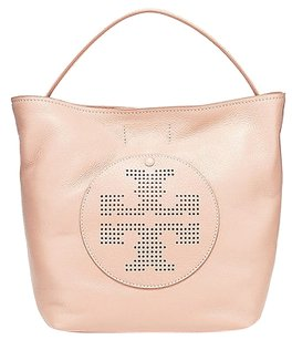 Tory Burch Sorbet Pebbled Leather Quinn Hobo Rare Satchel in Pink