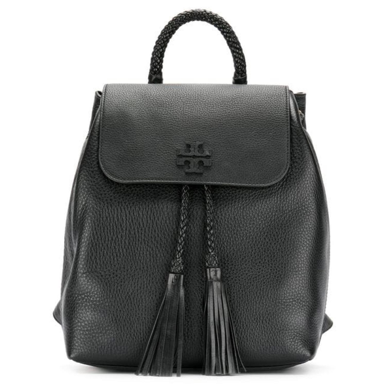 5d2c23770a4df Tory burch taylor saddle black leather backpack tradesy jpg 960x960 Tory  burch black leather backpack