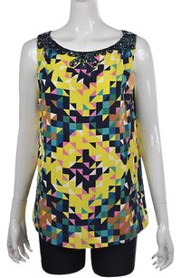 Tory Burch Womens Blue Top Multi-Color