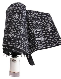 Tory Burch Tory Burch Automatic Umbrella TT Logo, NWT and Sleeve