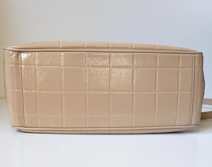 Tory Burch 525 Marion Quilted Patent Leather Light Oak