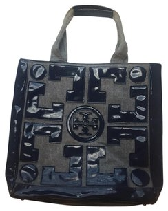 Tory Burch Tote in Navy & Gray