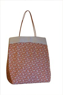 Tory Burch Tote in Orange and Ivory
