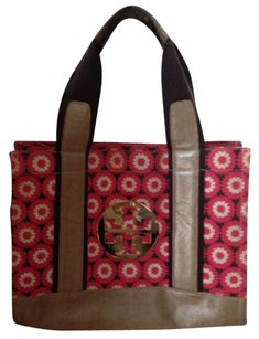 Tory Burch Tote in Pink, Cream & Brown