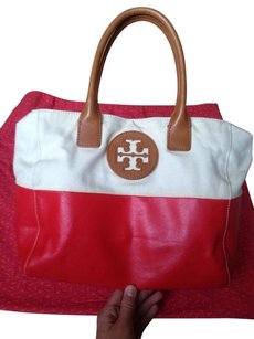 Tory Burch Tote in White/Red