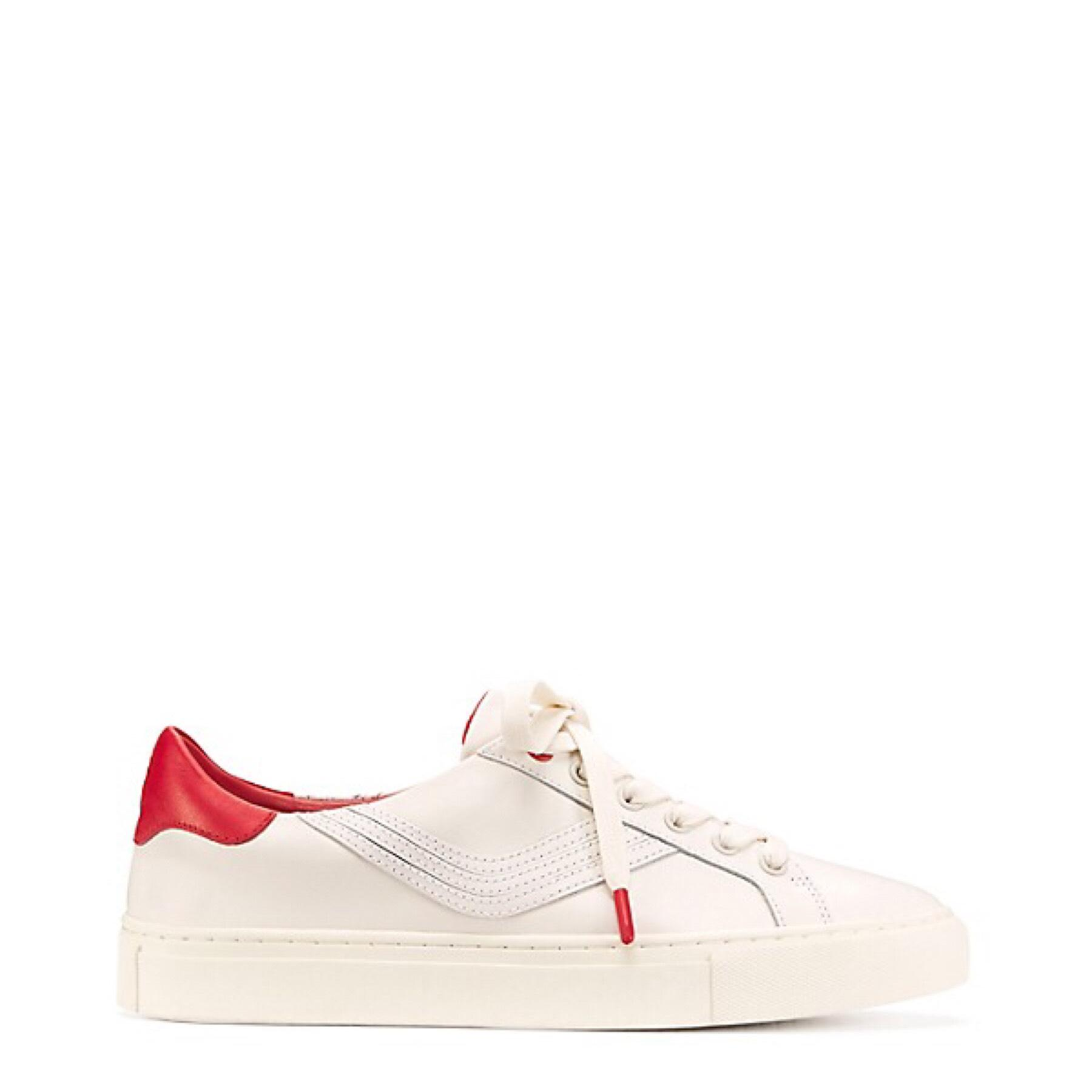 Cheap Price Outlet Sale Get Authentic Striped Leather Sneakers - White Tory Burch New 1b49j