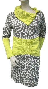 Tracy Negoshian short dress Multi-Color Amy Sweatshirt Oversized Gray Lime Green on Tradesy