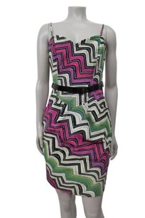 Tracy Reese Frock By Day Strapless Chevron White Combo Anthropologie Dress