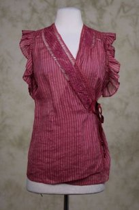 Tracy Reese Womens Top Maroon