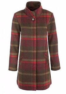 Tribal Plaid Concealed Button Front 190778tf Coat