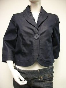 Tribal Jeans Shawl Collar Blue Jacket