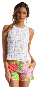 Trina Turk Crochet Lace Knit Summer Spring Top White
