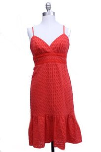 Trina Turk short dress Orange Hi Lo Eyelet Azteca on Tradesy